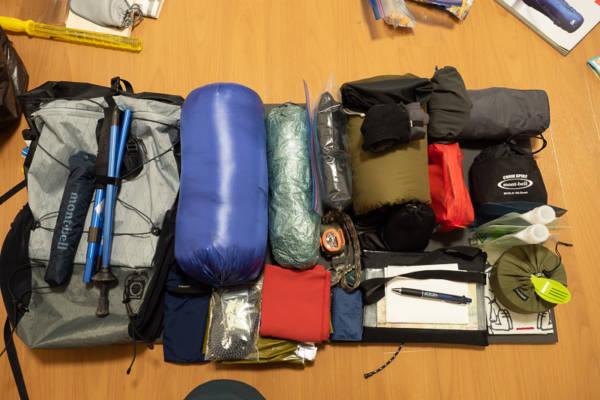 山と道miniに入る荷物の量