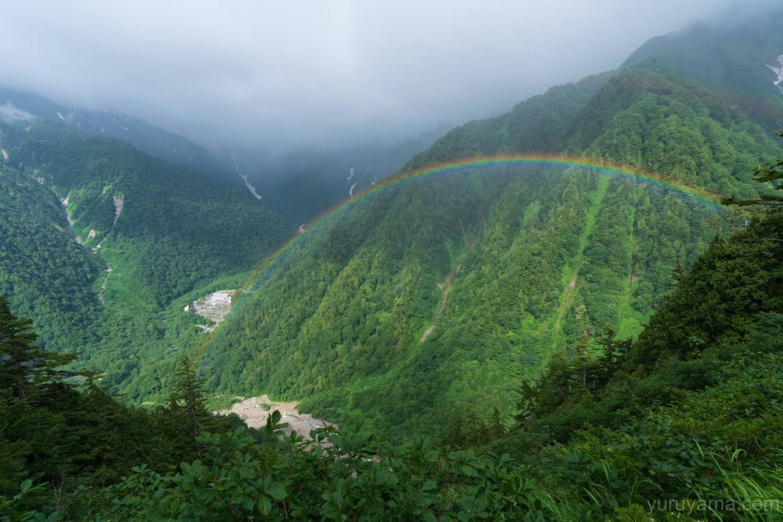 扇沢に架かる虹