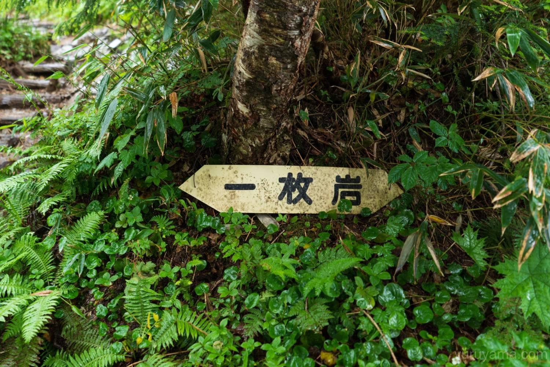 一枚岩の標識