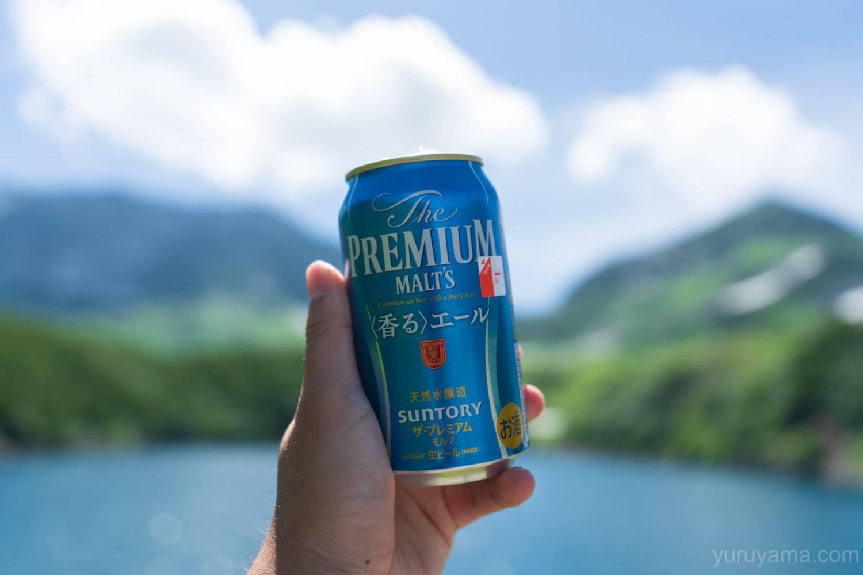 立山で飲むビール