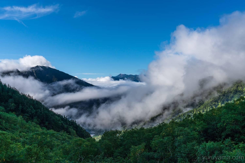 岳沢から見る乗鞍岳