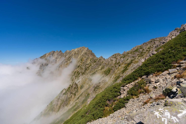 紀美子平から見える奥穂高岳
