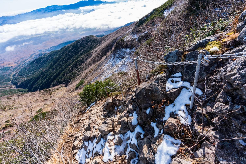 横岳のクサリバ