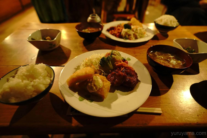 西穂山荘での夕飯
