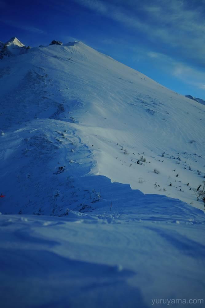 西穂へ続く稜線の画像