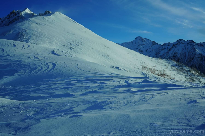 西穂高岳と前穂高岳の画像