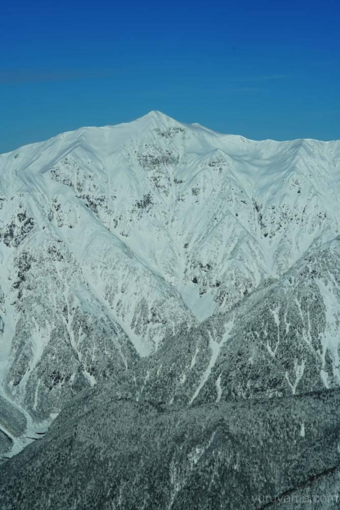 西穂丸山からみた笠ヶ岳の画像