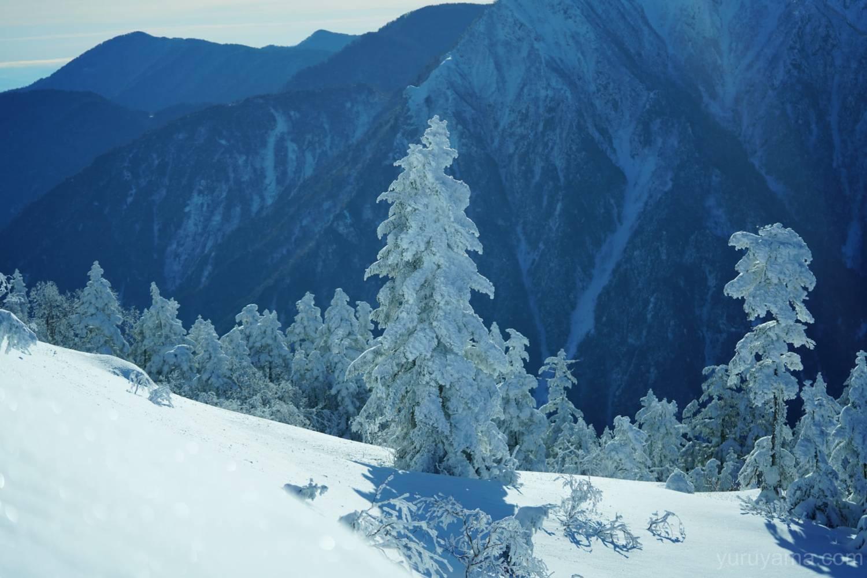 西穂山荘付近の樹氷