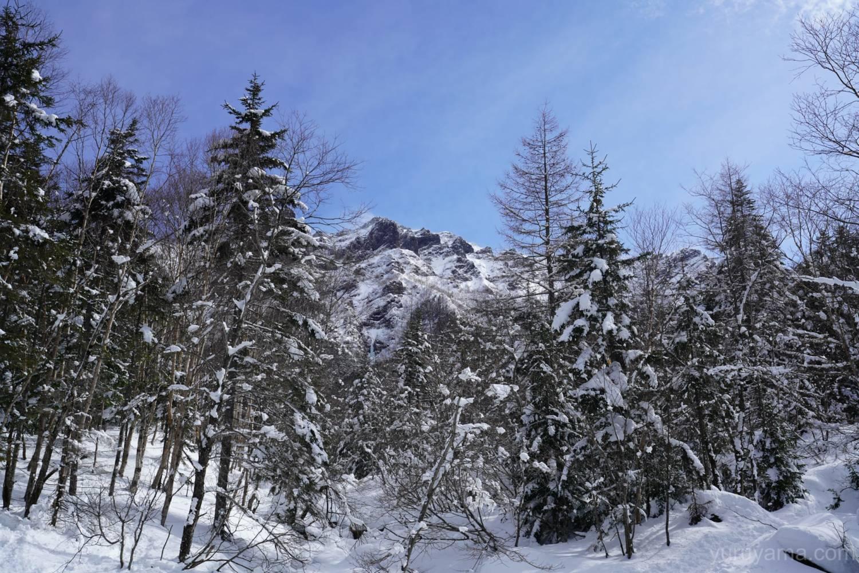 赤岳鉱泉付近から見える大同心