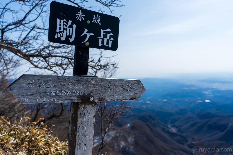 赤城駒ケ岳山頂の画像