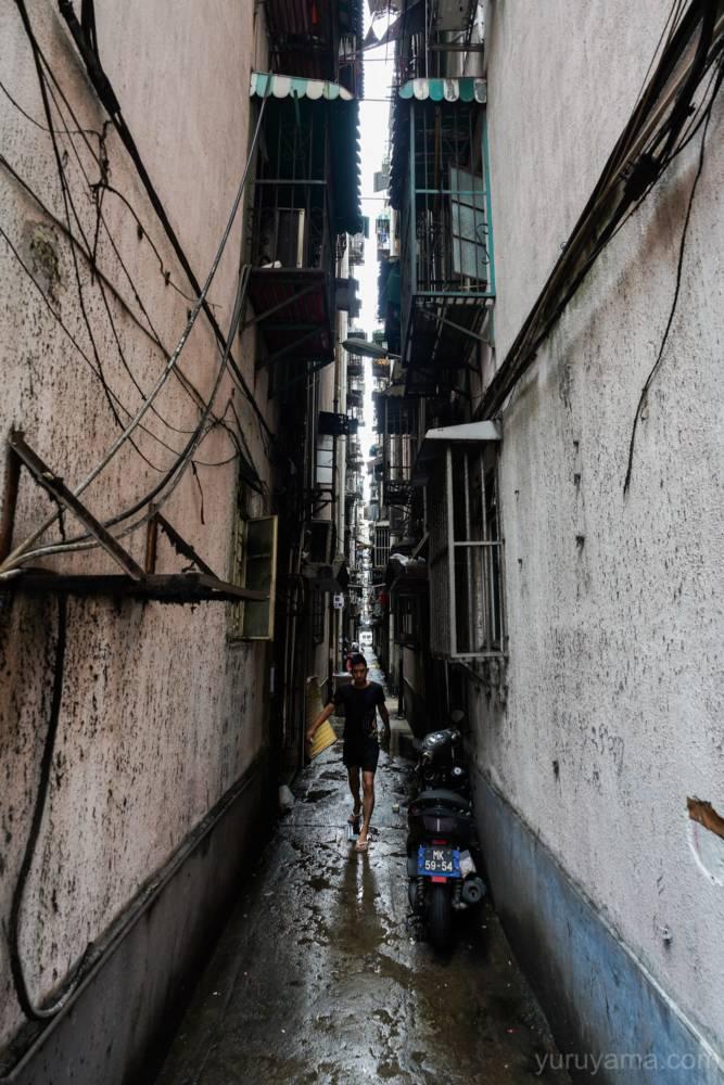マカオの路地裏の画像