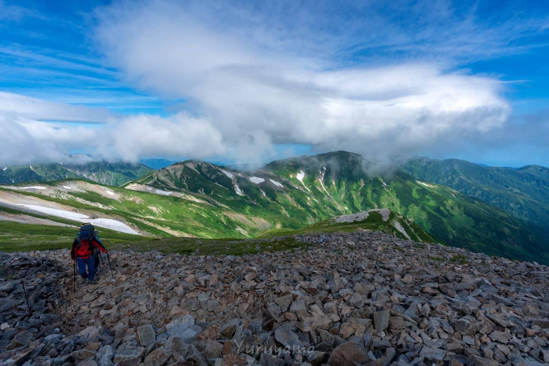 雪倉岳方面の展望