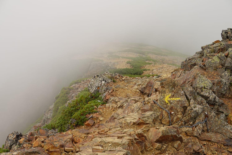 五竜岳登山道の難所、牛首の画像