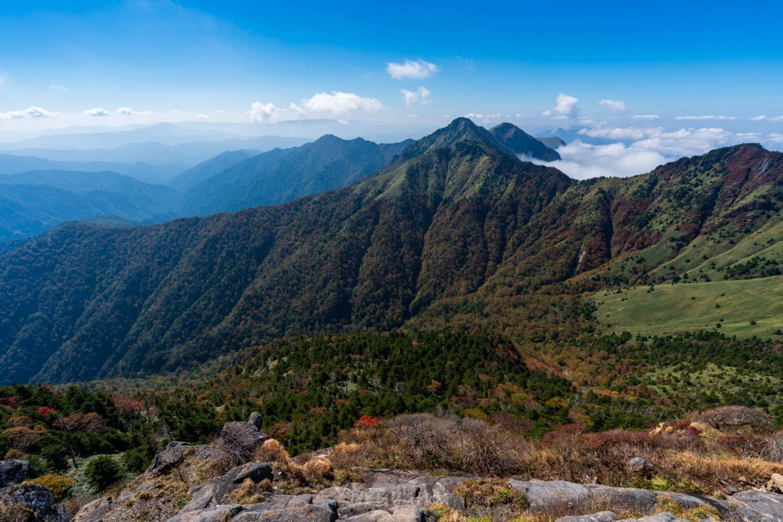 石鎚山系山脈の縦走路
