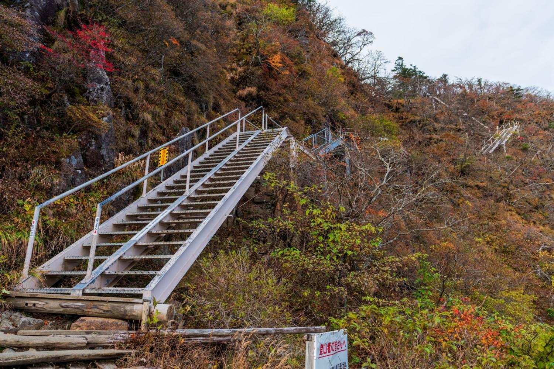 石鎚山の鎖場の迂回路の画像