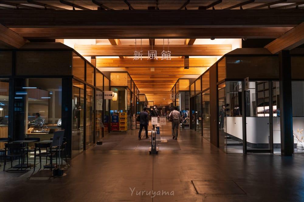 エースホテル京都に隣接する新風館