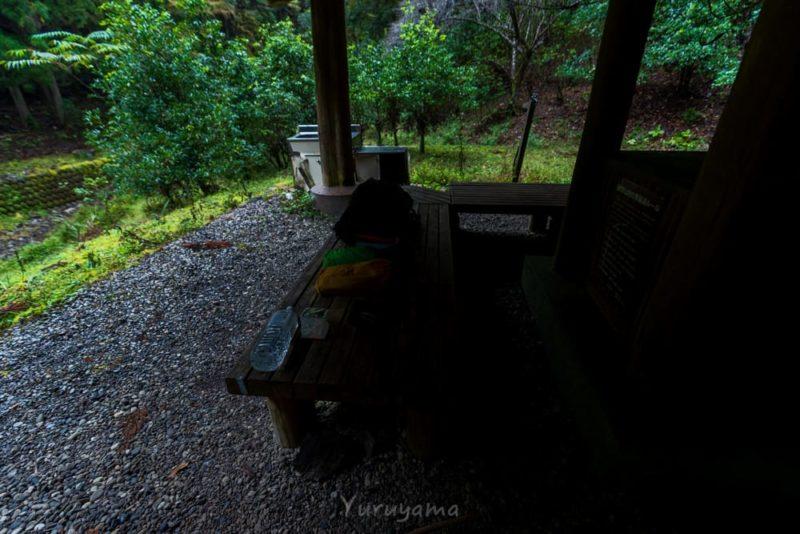 熊野古道中辺路での野宿