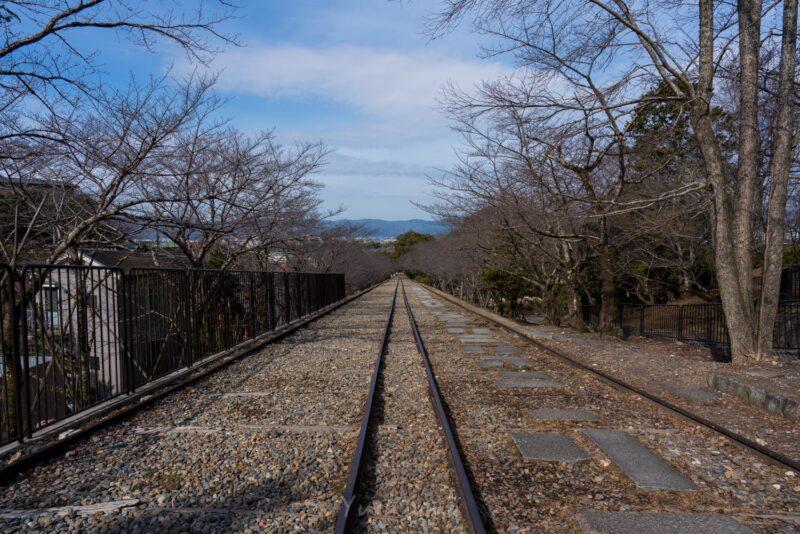 大文字山登山の途中にあるインクライン