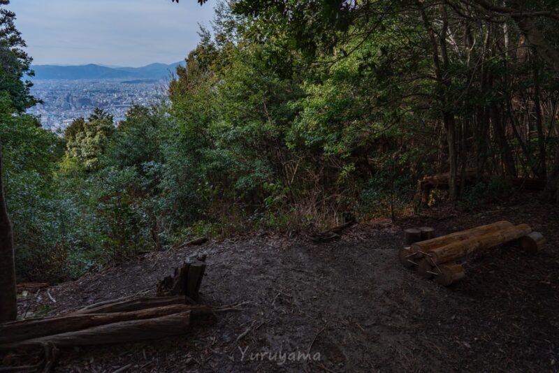 大文字山への道中での展望