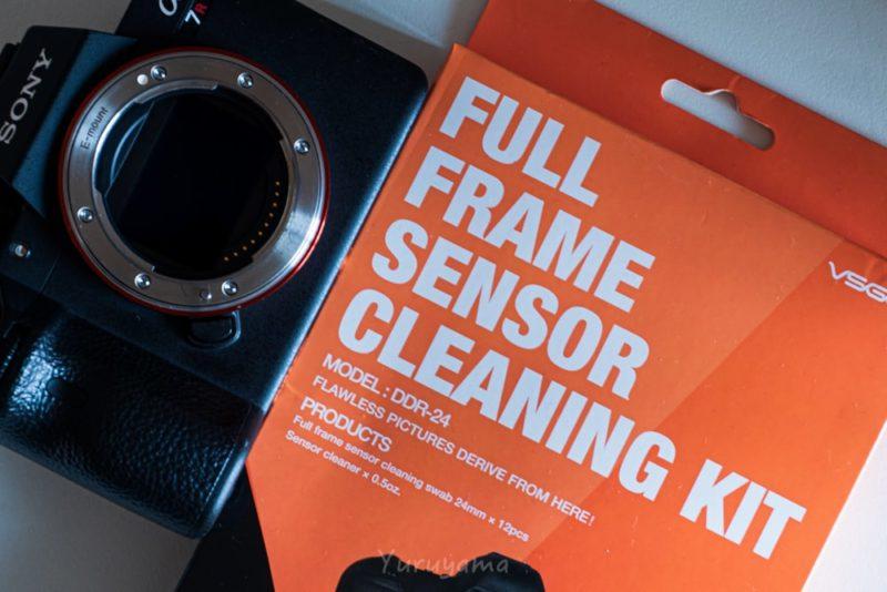 vsgoのセンサークリーニングキットとカメラの画像