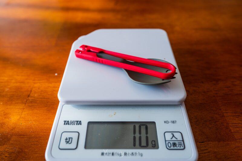 MSRスポークの重量は10g