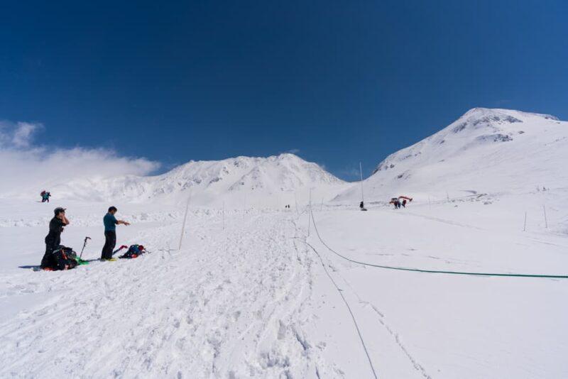 降雪後の春の立山
