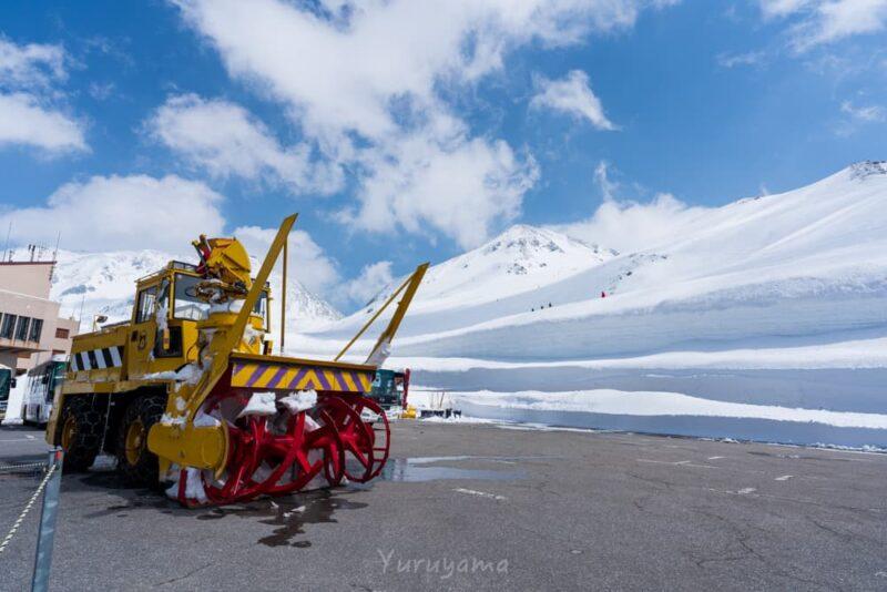除雪車と立山