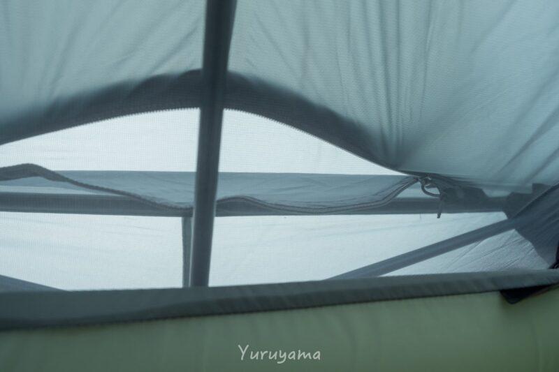 ベンチレーションはテント内部からのアクセス難しい