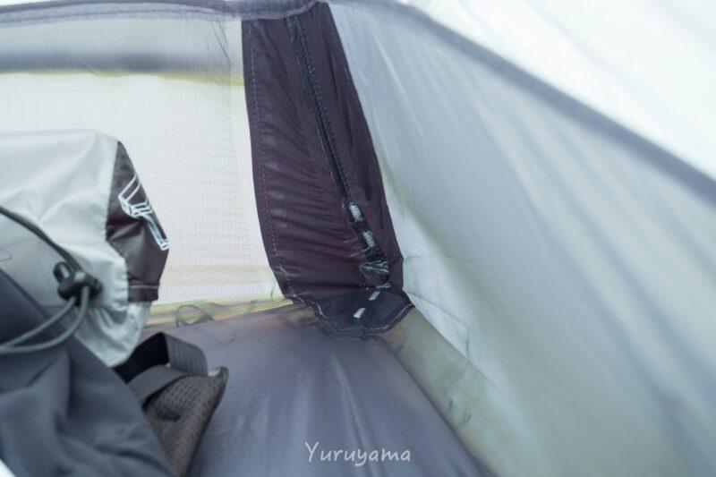 テント足元の補強箇所