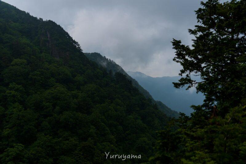 瓶ヶ森登山道から見える風景