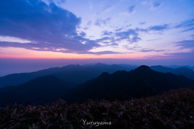 瓶ヶ森山頂の風景1