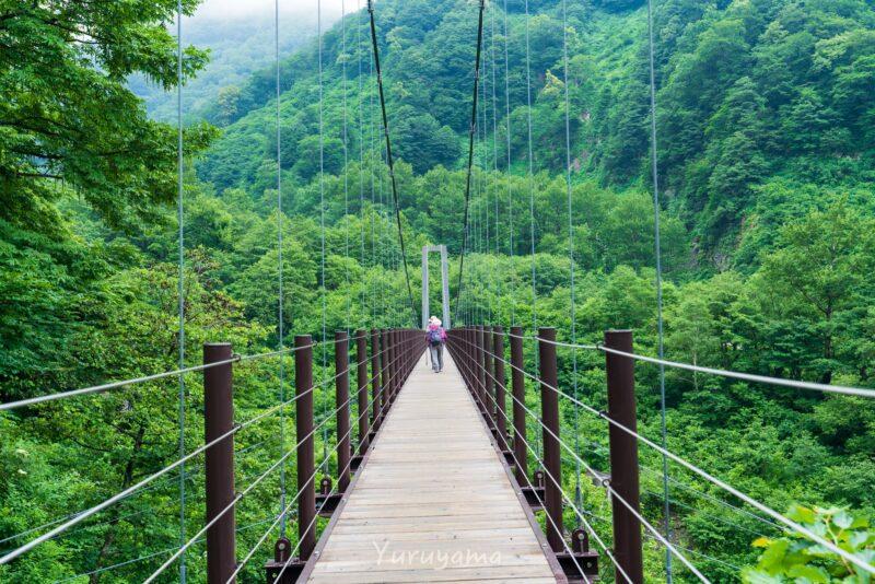 別当出合の吊橋