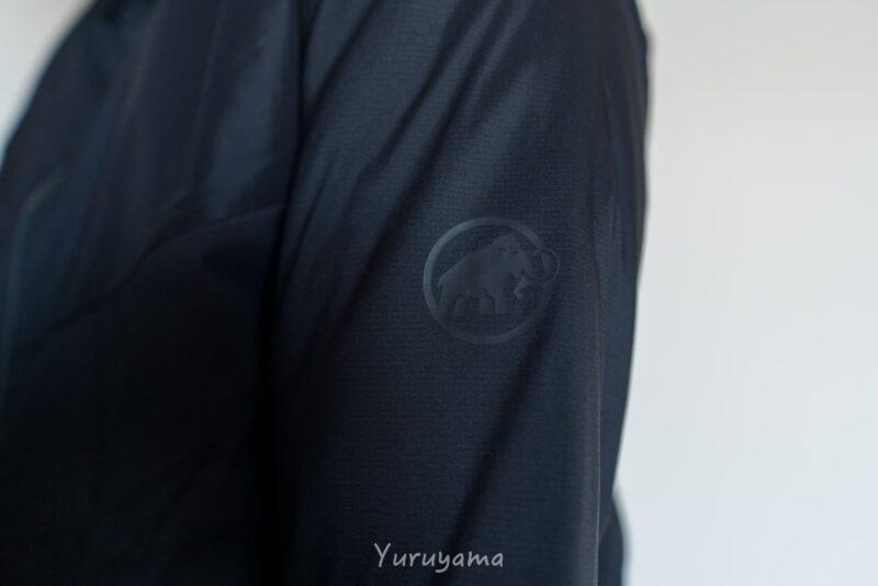 マムートのライムライトインフレックスフーデッドジャケットの画像2(ロゴ)