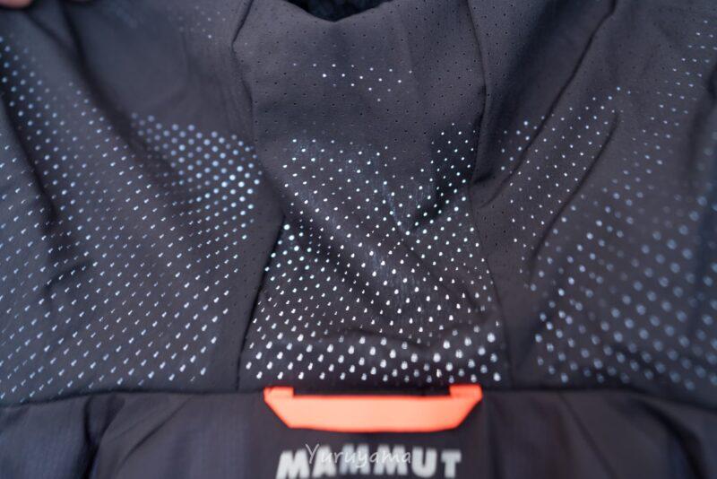 マムートのRime Light IN Flex Hooded Jacketのフードの画像