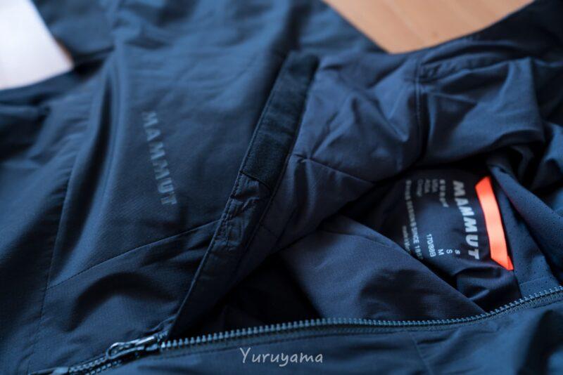 マムートのRime Light IN Flex Hooded Jacketのチンガード