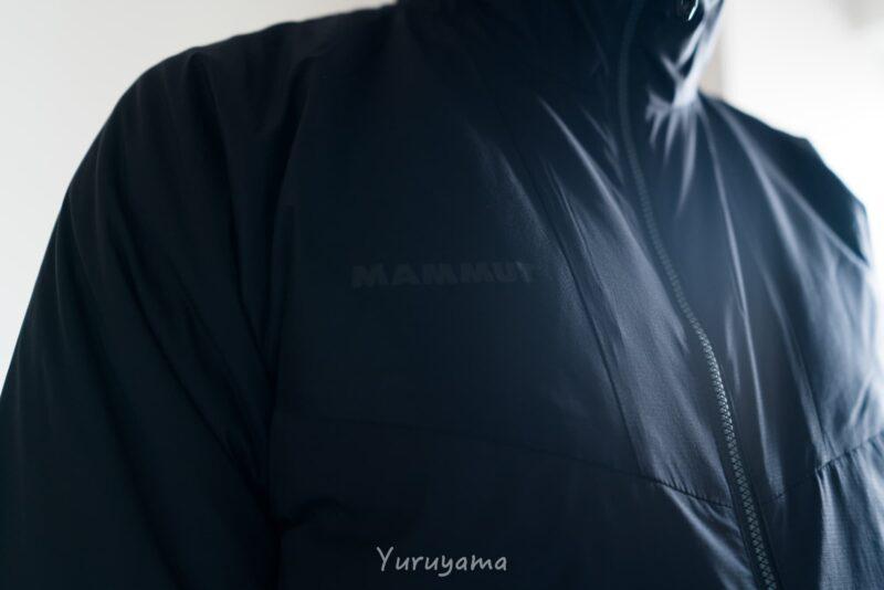 マムートのライムライトインフレックスフーデッドジャケットの画像